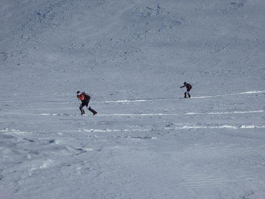 Einige Spitzkehren im Gipfelhang war noch zu meistern