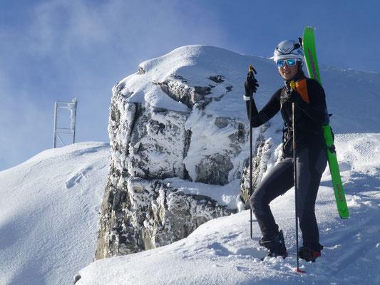 Johanna, die aufstrebenden Skibergsteigerin des Vinschgaus