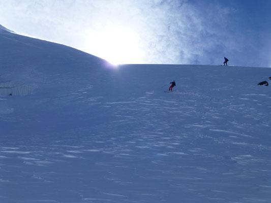 Abfahrt von der Suldenspitze  Bergtol