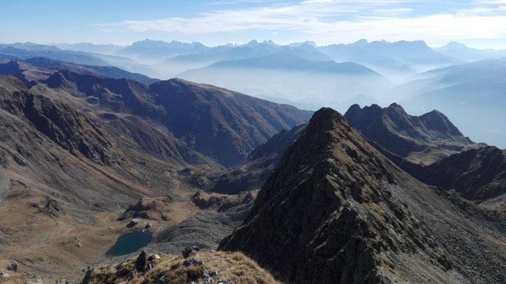 Blick zur Tiefrastenhütte hinunter