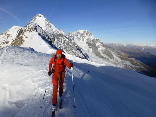 Toni am Suldenspitz, Welli im Gipfelhang