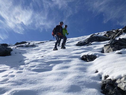 Den Abstieg, ebenfalls über den Meranerweg, wählten wir so direkt als möglich, zumal die Bedingungen einfach toll waren