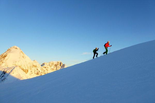 Die letzten Schritte vor dem Gipfel