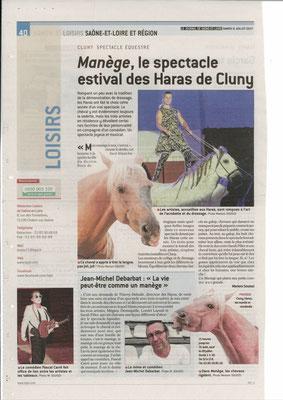 Article paru dans Le Journal de Saône et Loire le 8 juillet 2017