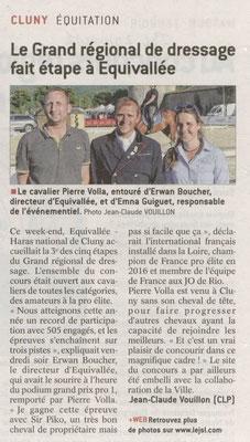 Article paru dans Le Journal de Saône et Loire le 29 mai 2017