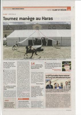 Article paru dans Le Journal de Saône et Loire le 11 juillet 2017