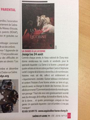 Article paru dans Saône et Loire Été 2018