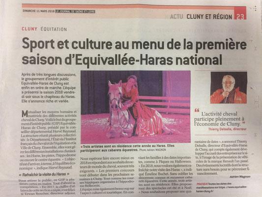 Article paru dans Le Journal de Saône et Loire le 11 Mars 2018