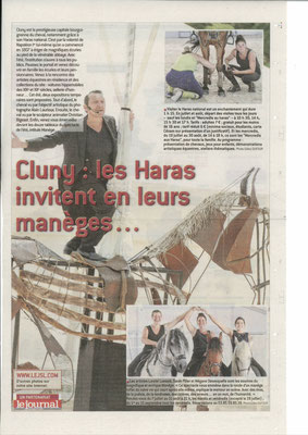 Article paru dans Le Journal de Saône et Loire le 7 juillet 2017