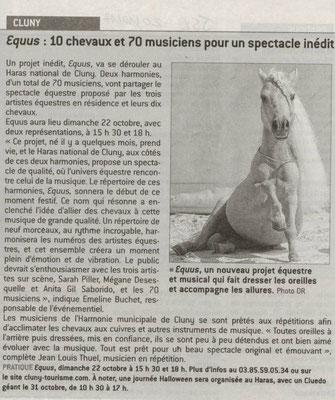 Article paru dans Le Journal de Saône et Loire le 20 octobre 2017
