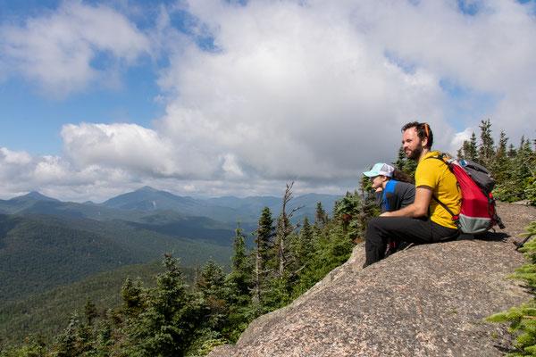 Vue depuis Porter Mountain avec Ulysse et Angie