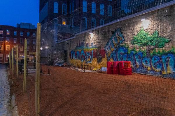 Une fresque murale dans Old City