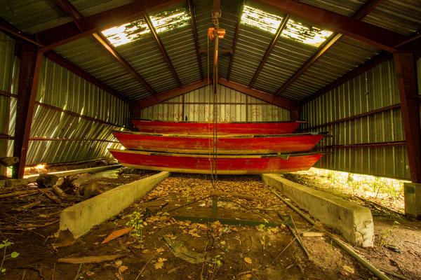 Ausable Chasm, notre fameux hangar (crédit photo : Ulysse)