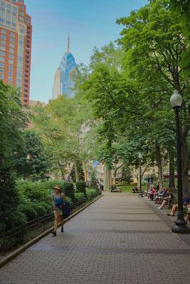 Rittenhouse Square vue sur Midtown village, le quartier des affaires