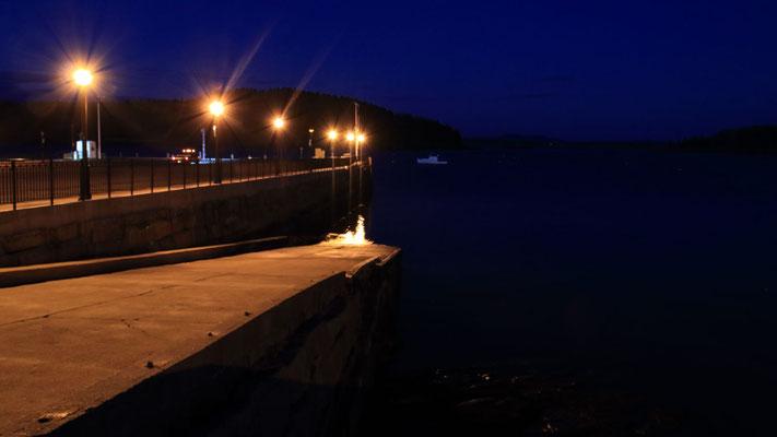 Le port de Bar Harbor à la nuit tombée, ME, USA