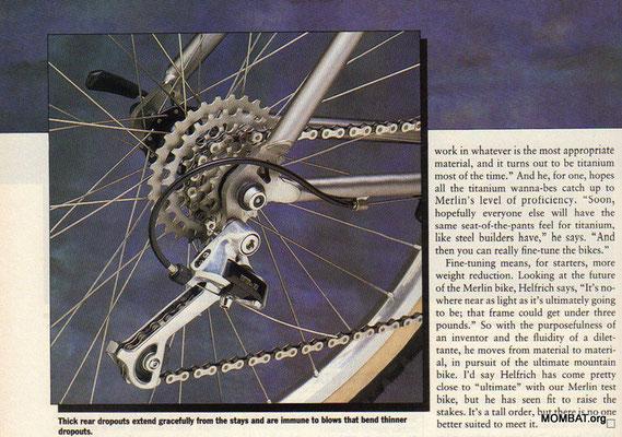 Merlin - oldschoolracing ch - vintage Mountainbikes race ready!