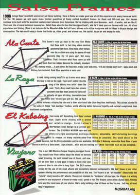 Salsa - oldschoolracing ch - vintage Mountainbikes race ready!