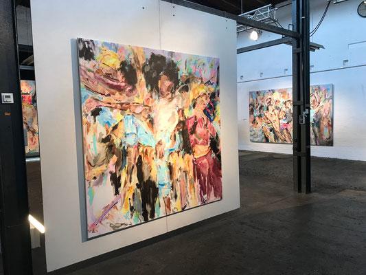 """Ausstellungsansicht """"Skylarking"""", Rasselmania, Hildesheim 2019"""