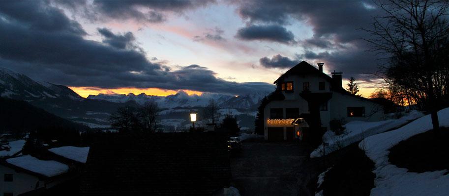 Sonnenuntergang - @Haus Löger Apartments - Windischgarsten