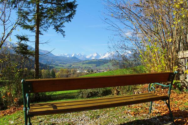 Eine von vielen Aussichtsplätzen rund ums Haus Löger - Windischgarsten