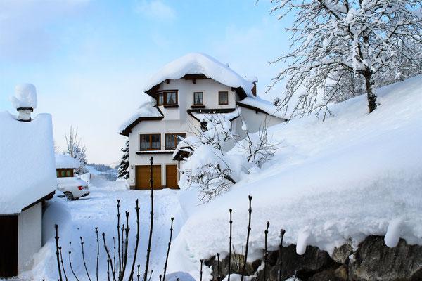 Traumhafter Schnee im Haus Löger Apartments - Windischgarsten