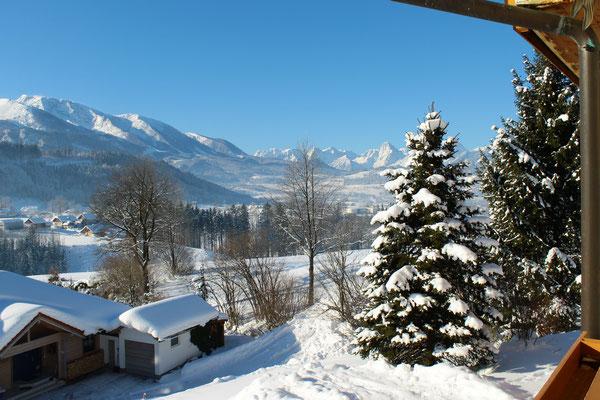 Aussicht vom Balkon - Haus Löger Apartments - Windischgarsten