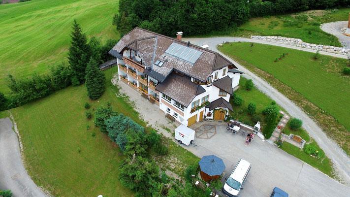 Haus Löger Apartments von oben - Windischgarsten
