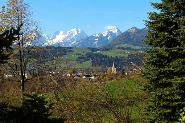 Aussicht auf das Tote Gebirge  - Haus Löger Apartments - Windischgarsten