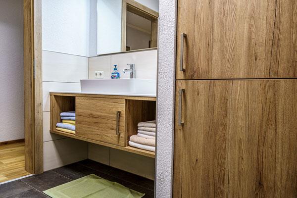 Badezimmer Apartment D Priel