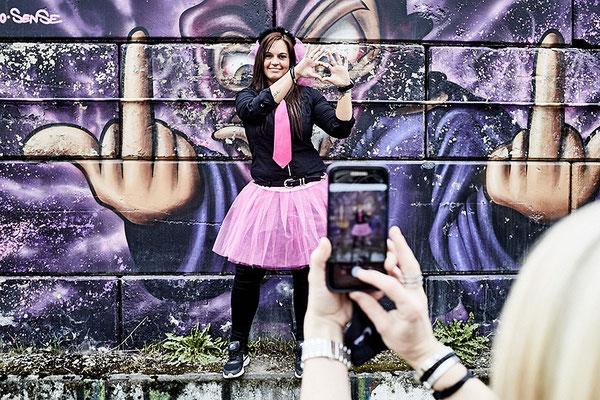 Kreative Fotos beim Junggesellinnen Fotoshooting in Osnabrück