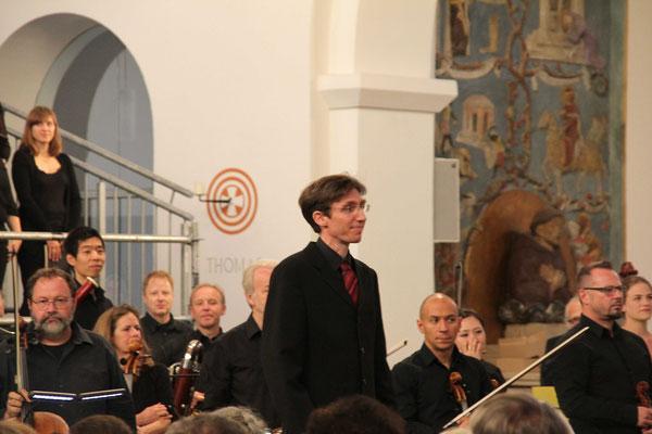 Herr Kennerknecht vor seinem letzten Konzert mit dem LGV und den Nürnberger Symphonikern