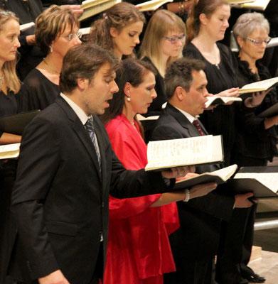 Die Solisten: Martin Berner, Bass, Corinna Schreiter, Sopran; Michael Nowak, Tenor