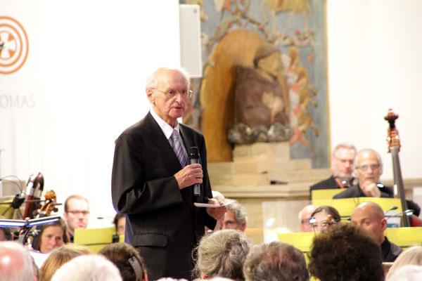 Der vielen Nürnbergern bekannte Pfarrer i.R. Richard Förster berichtete als Zeitzeuge mit sehr eindringlichen Worten über das damalige Geschehen