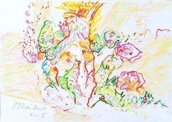 Farbenwelt 3 | Ölkreide/Papier | 2005 | 42x30cm