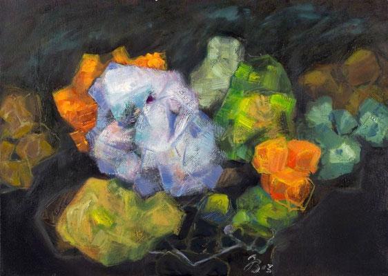 Kristalle | Öl auf Leinwand | 2003 | 70x50cm