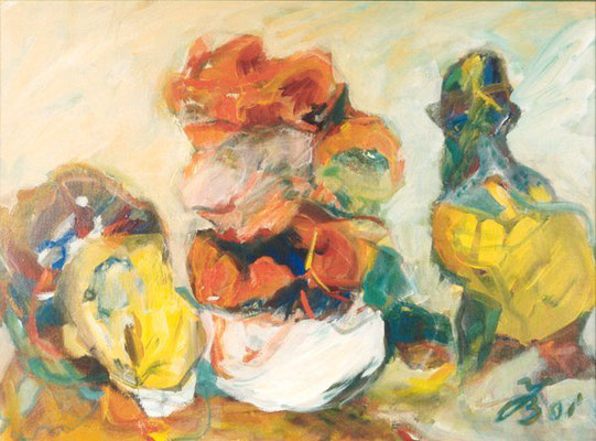 Stehende Form | Acryl auf Leinwand | 2001 | 80x60cm