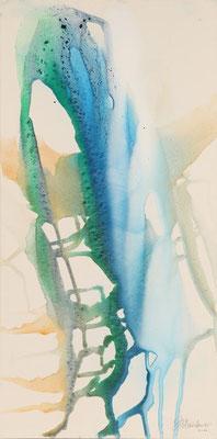 4443 O.T., Erdfarben auf Leinwand, 2011 50 x 100 cm