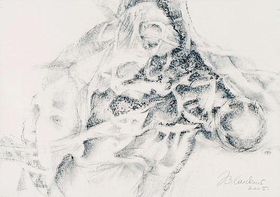 Lebensform | Pastellkreide/Papier | 2005 | 42x60cm