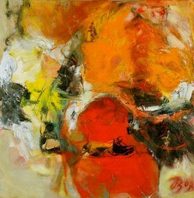 Sommerwind | Collage auf Leinwand | 2007 | 80x80cm