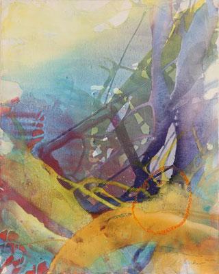 4434 O.T., Erdfarben auf Leinwand, 2011 80 x 100 cm