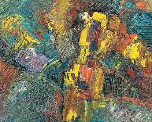 Gelbe Kontur | Öl auf Leinwand | 2006 | 18x24cm
