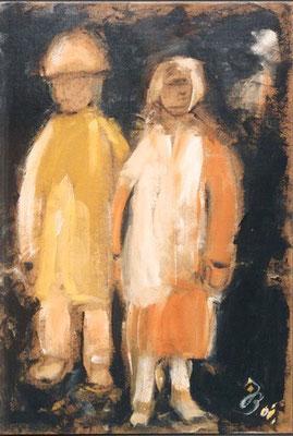 2 Kinder | Öl auf Karton | 2006 | 50x70cm