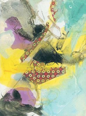 Der Tanz | Collage auf Leinwand | 2007 | 30x40cm