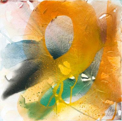 0D O.T. Erdfarben auf Leinwand, 2009 80 x 80 cm