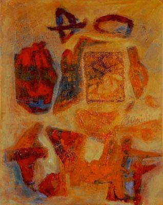 Geheimschrift | Collage auf Leinwand | 2007 | 80x100cm