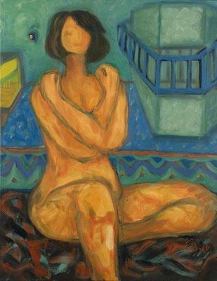 Mädchen im blauen Raum | Öl auf Leinwand | 2006 | 70x90cm