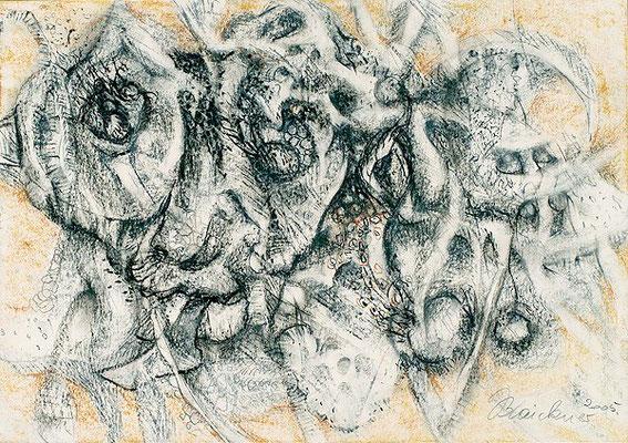 Wildnis | Pastellkreide/Papier, 2005 | 42x60cm