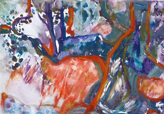 Tierisch | Gouache auf Papier | 2001 | 70x50cm
