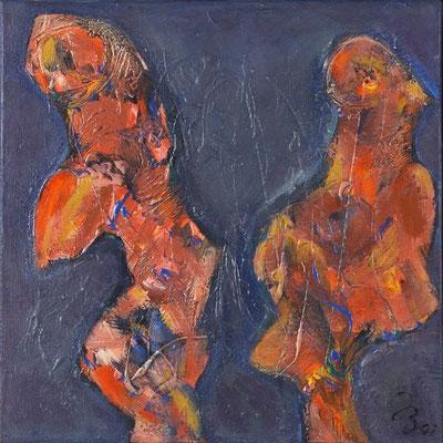 Urtiere | Acryl auf Leinwand | 2001 | 40x40cm