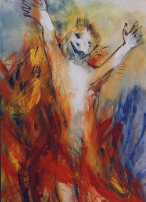 Feuerspiel | Gouache auf Papier 1999 | 35x50cm